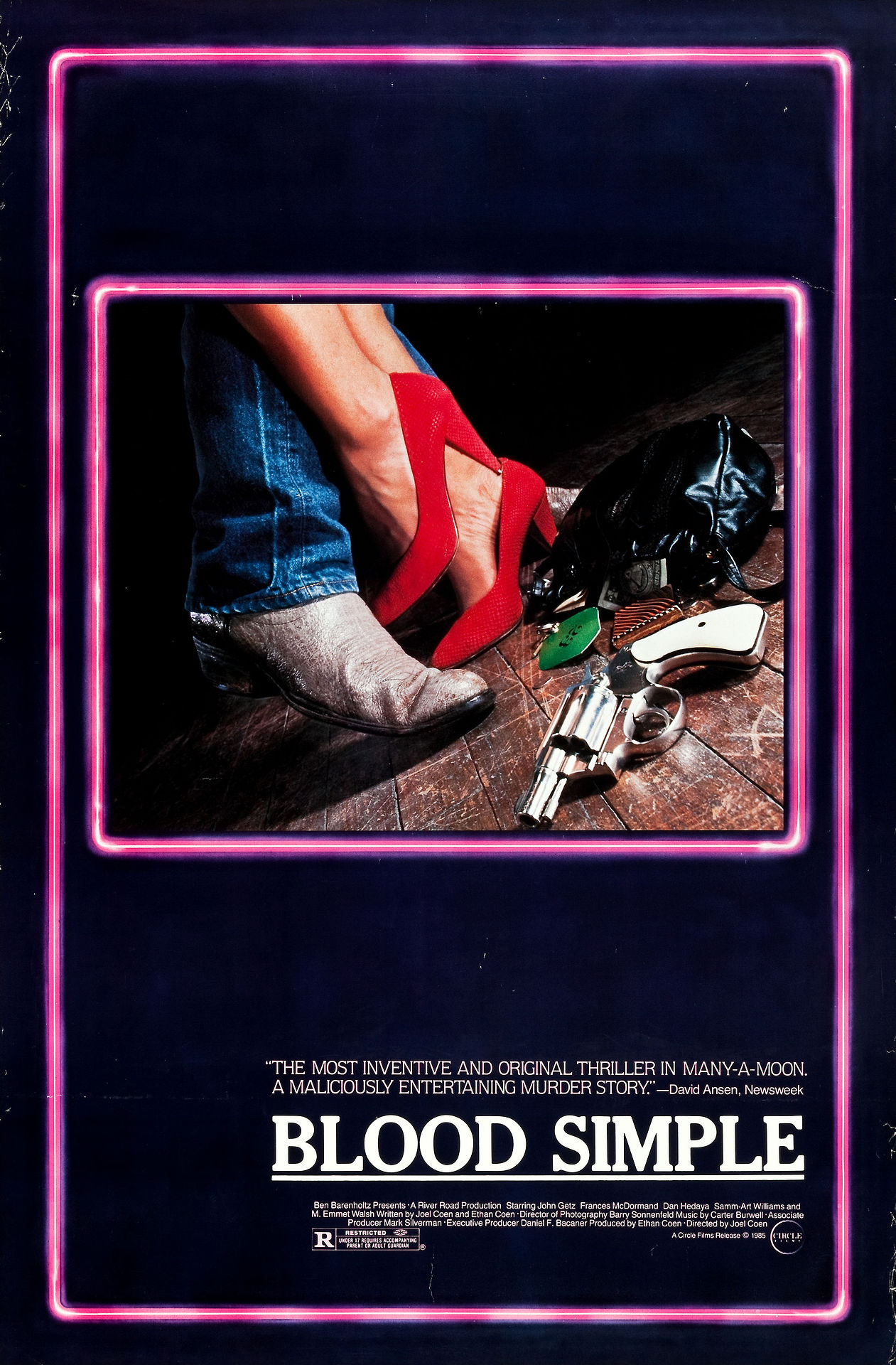 wandrlust: Poster for Blood Simple (Joel and Ethan Coen, 1984) Coen Bros…straight up…royalty. It is what it is.