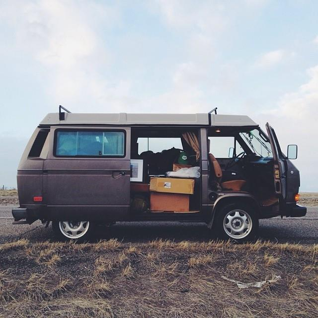 "van-life: Model: Vanagon Wolfsburg 85'  Location: Bozeman, MT Photo; vanajeros // iamaidan.com People can say what they want about vans, but seriously, they're like ""groundships."""