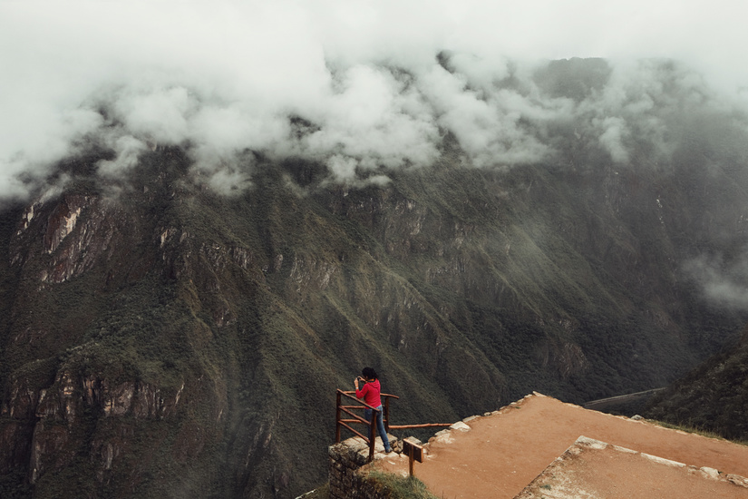 mpdrolet :      Peru     James Chororos     All in the clouds, procrastinating. In your red shirt.