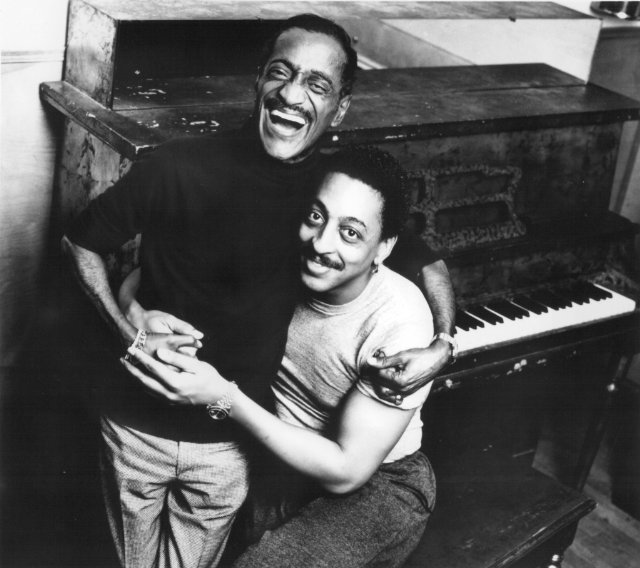 vintageblackglamour :     Sunday Best:  Sammy Davis Jr . (1925-1990) with  Gregory Hines  (1946-2003) in a promotional photo for their 1989 film, TAP.      Royalty.