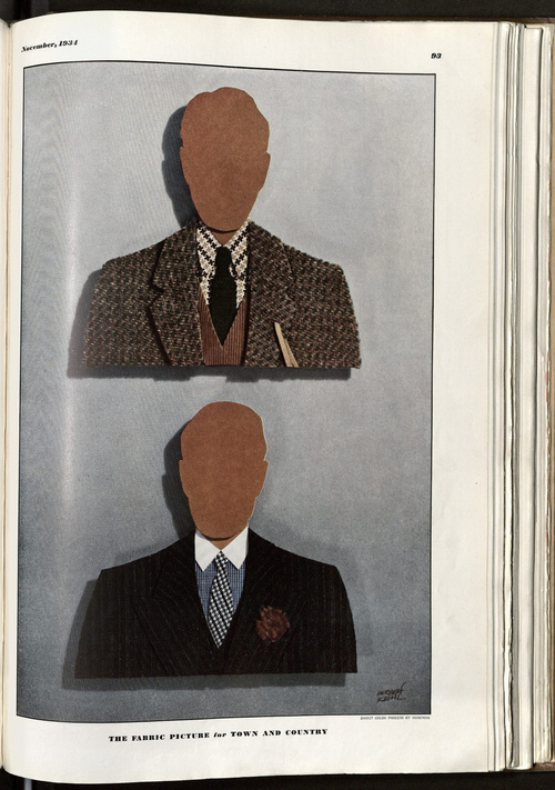 vagabondbrothers :      Esquire  - November, 1934     In the 1930's apparently there were black men in Esquire magazine.