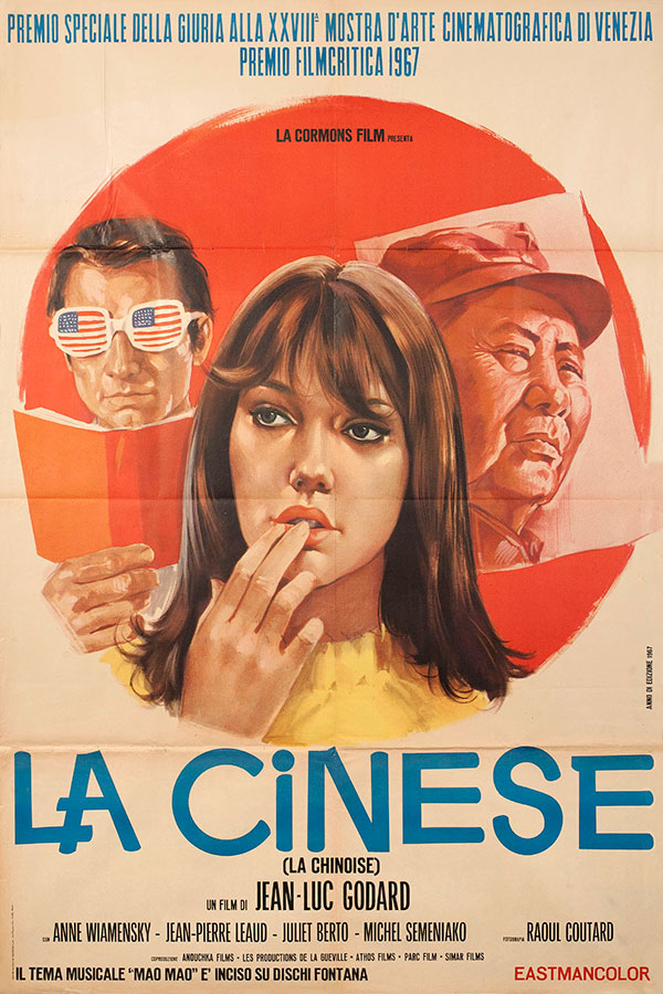 movieposteroftheday: Italian 2-foglio for LA CHINOISE (Jean-Luc Godard, France, 1967) [see also] Designer:TBD Poster source: Posteritati (with digital repairs) Beautiful poster, Godard. But my man on the left…with the glasses…yeah him…straight up, procrastinating.