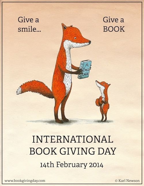 ebookporn :       Three simple ways to celebrate International Book Giving Day!      1. Give a Book to a Friend or Relative.      2. Leave a Book in a Waiting Room or Lobby.       3. Donate a Book  .      http://bookgivingday.com/      It's a celebration! Give a book. But there's one rule/direction missing and it actually is most important to me. Sign it. Write something on the inside of the book, even if it's just your name and date and who you're giving the book to. Then, the book becomes a moment in time, a capsule that will be pleasant surprise to someone years from now, when they least expect it.