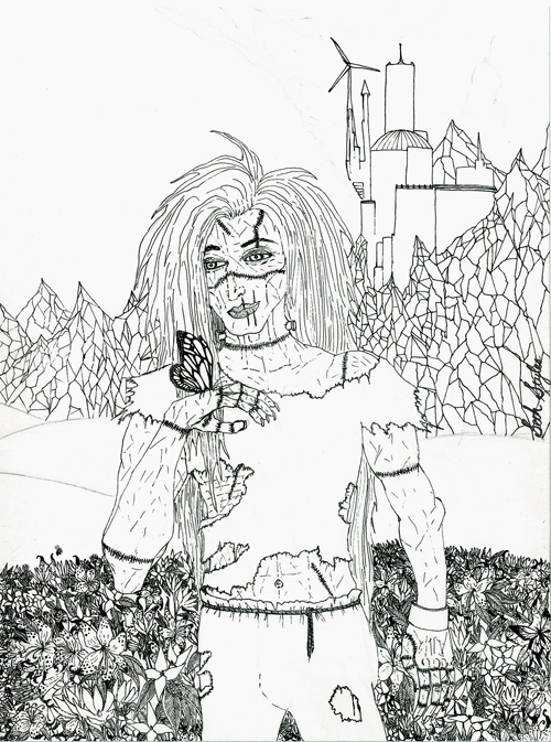 Frankenstein's Monster pre-coloring...