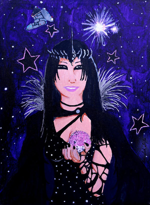 Velvet Stars Collide - Portrait of Carisa Bianca Mellado  - 2013 - acrylic on canvas