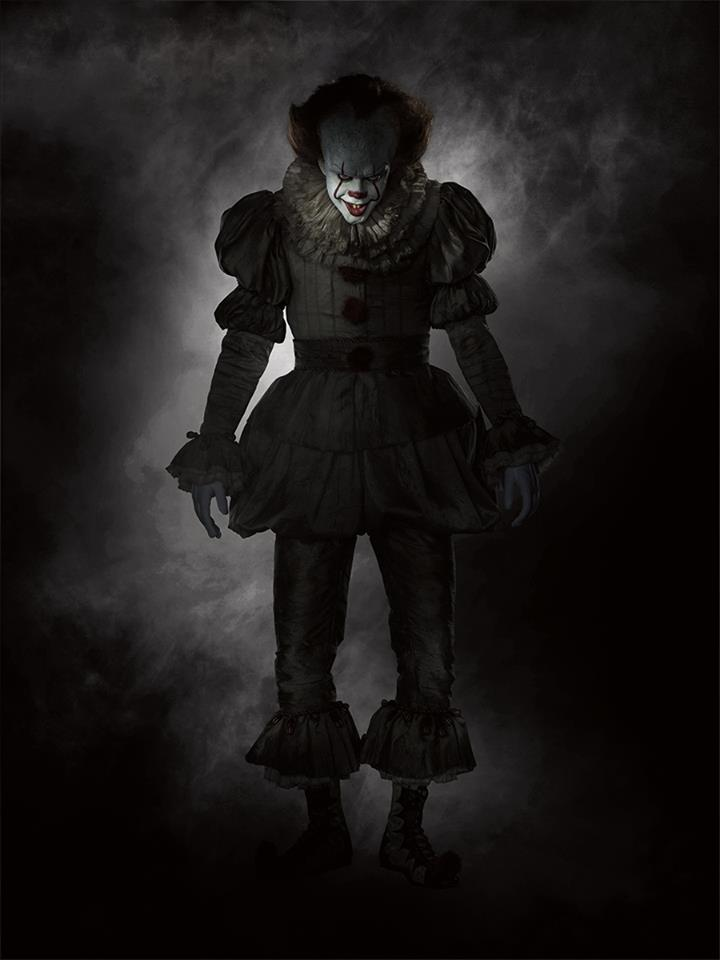 Skarsgård as the 2017 incarnation of Pennywise the clown.