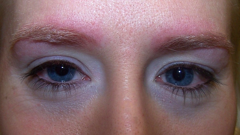 after brow shaping, and lash and brow tinting