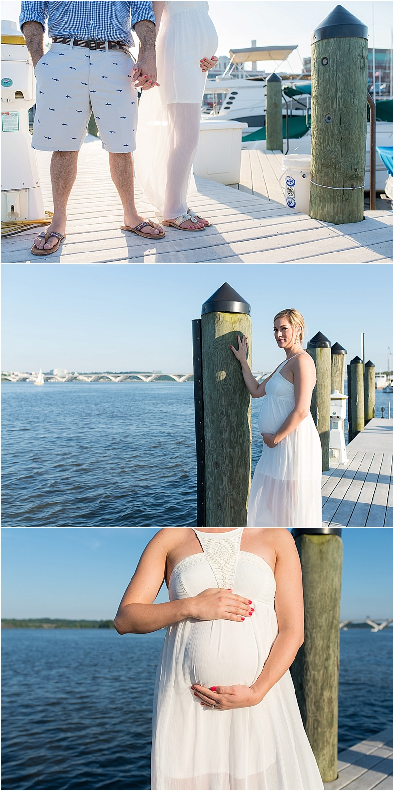 Northern VA maternity photographer Potomac Boat Session