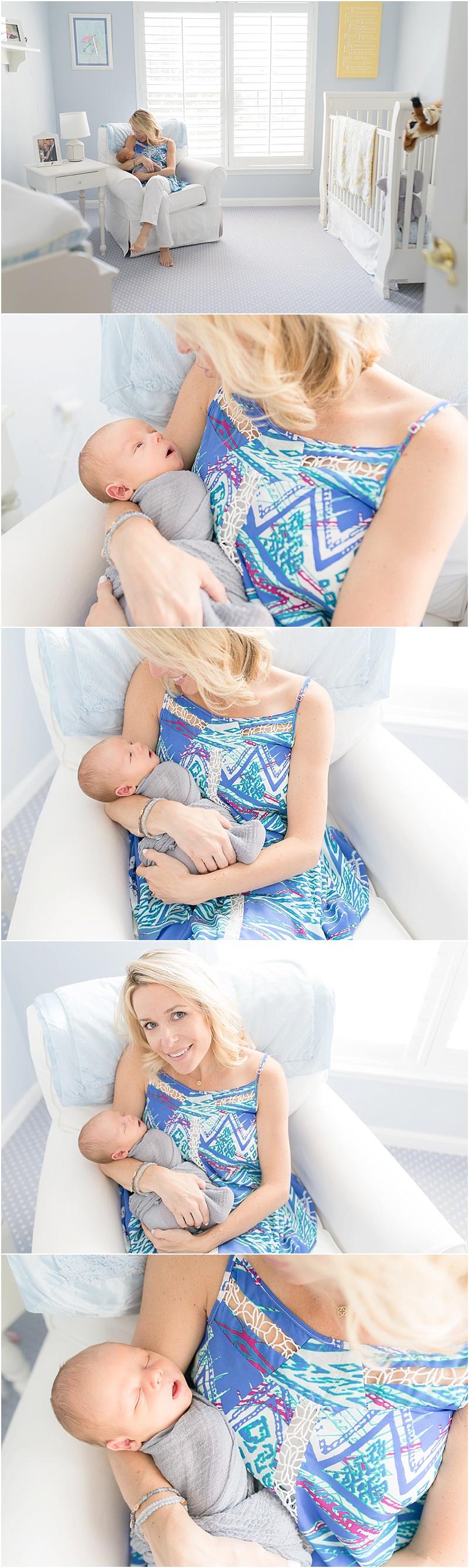 Lifestyle Newborn Session in Ashburn, VA | Kristin Cornely Photography