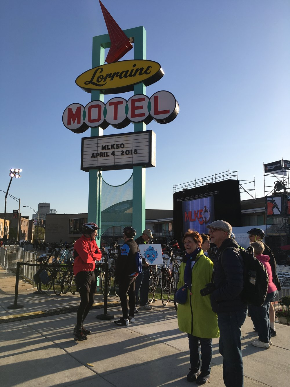 Cooperative Baptist Fellowship & Together For Hope Civil Rides at Lorraine Motel this morning