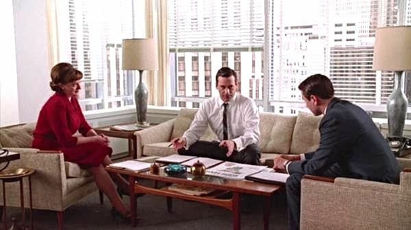 MODLIFE HOME furniture and accessories on the set of Mad Men.