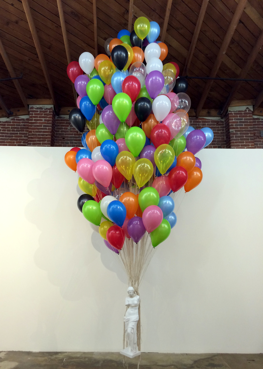 Alia Penner    Venus Rising , 2014  Balloons and plaster  various dimensions