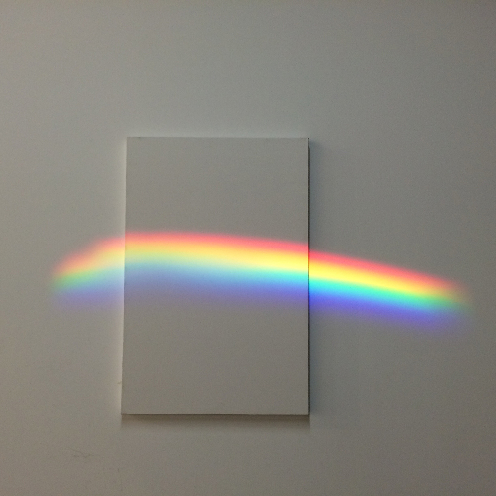 Jem Goulding  White Rainbow, 2014  Prism, Source 4 light source on canvas  36 x 24 inches