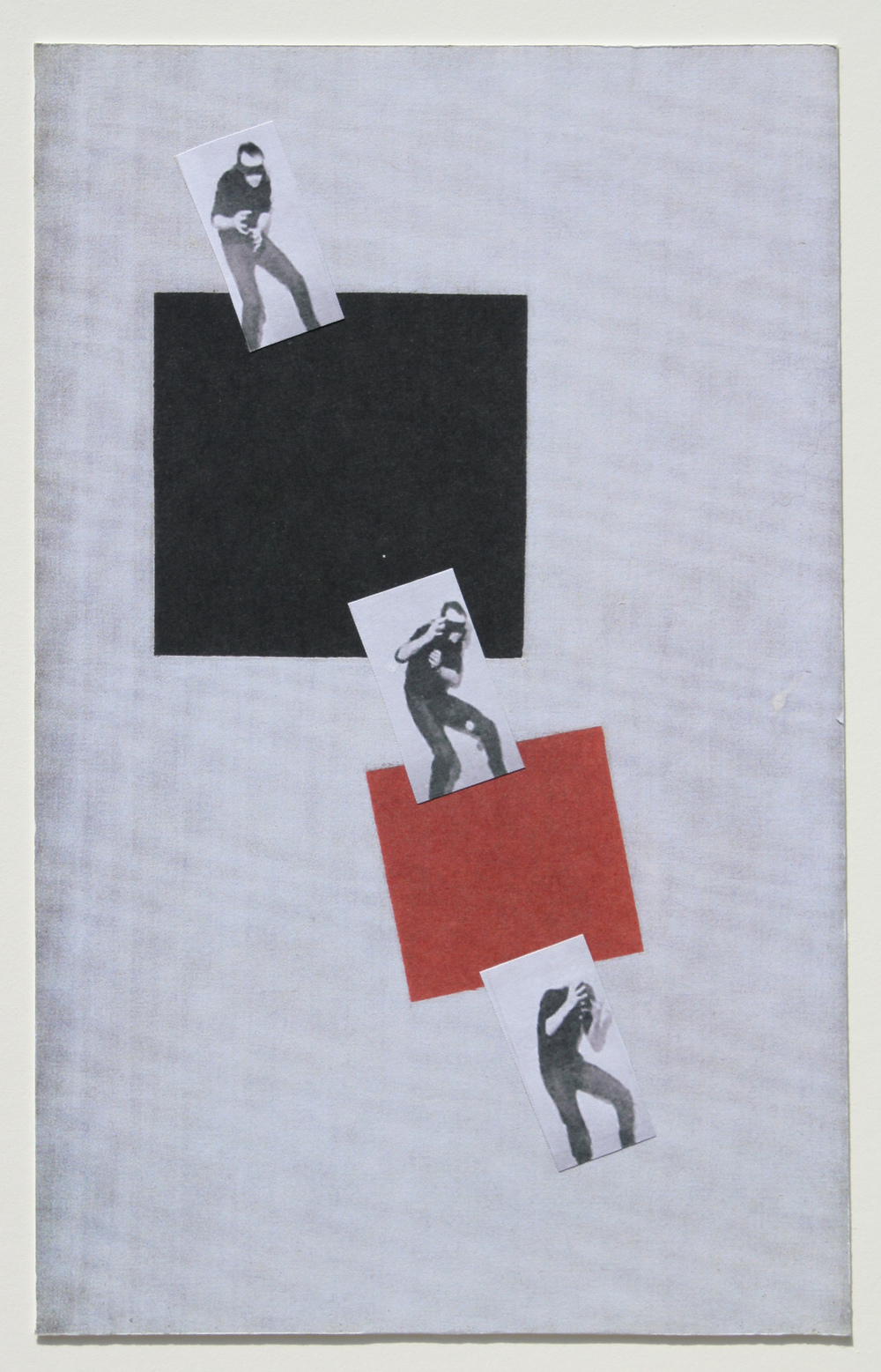 After Malevich (w/Vito), 2011  Pigment print and paper collage  13.5 x 10 inches
