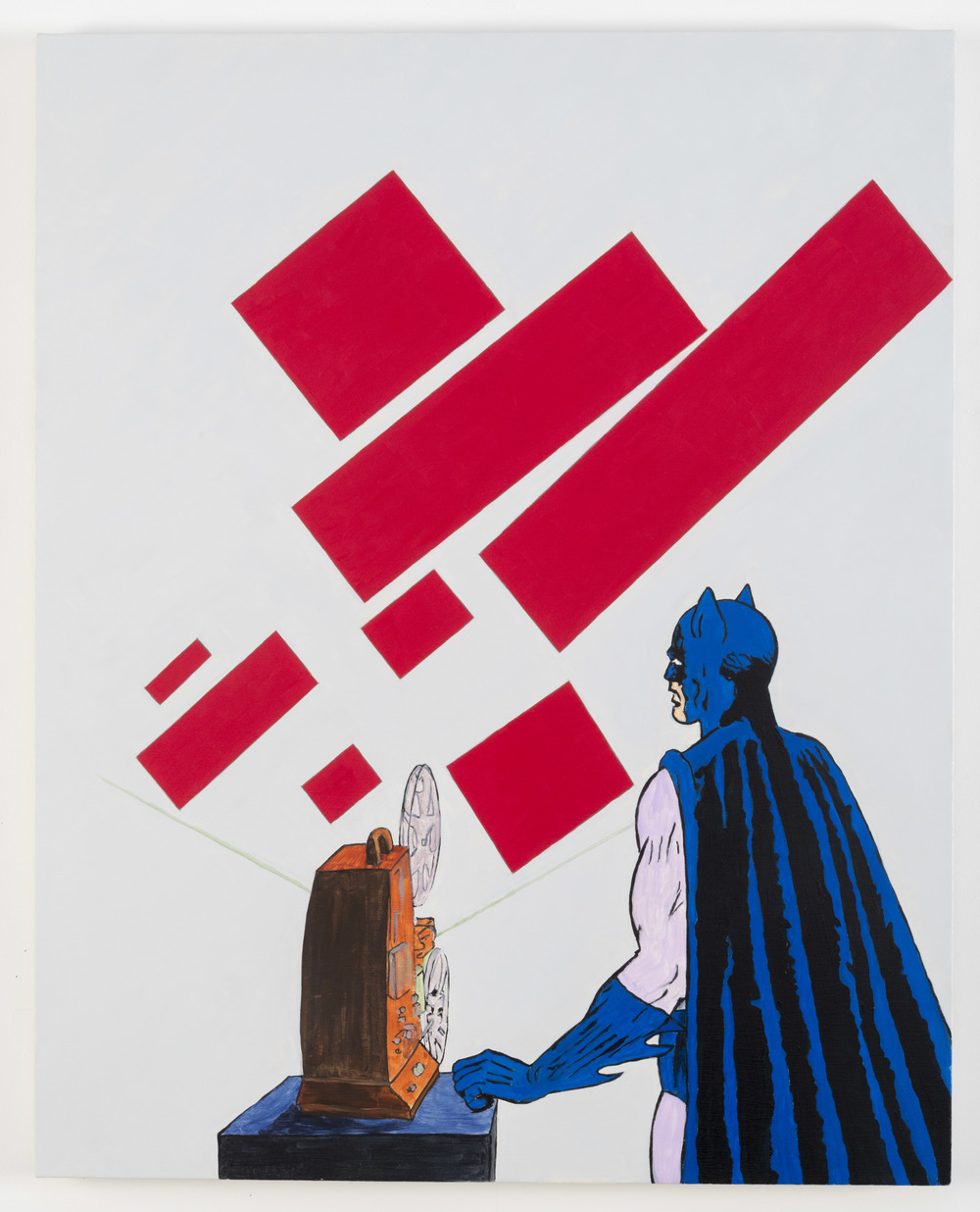 After Malevich (w/Batman), 2012  Oil on canvas 40 x 32 inches
