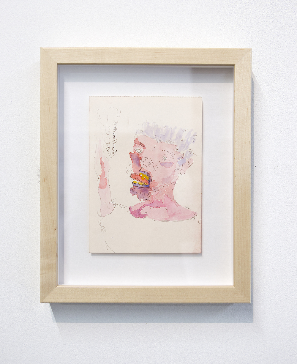 Henry Hopper, Untitled, 2015, watercolor and pen on paper, 7 x 5 inches