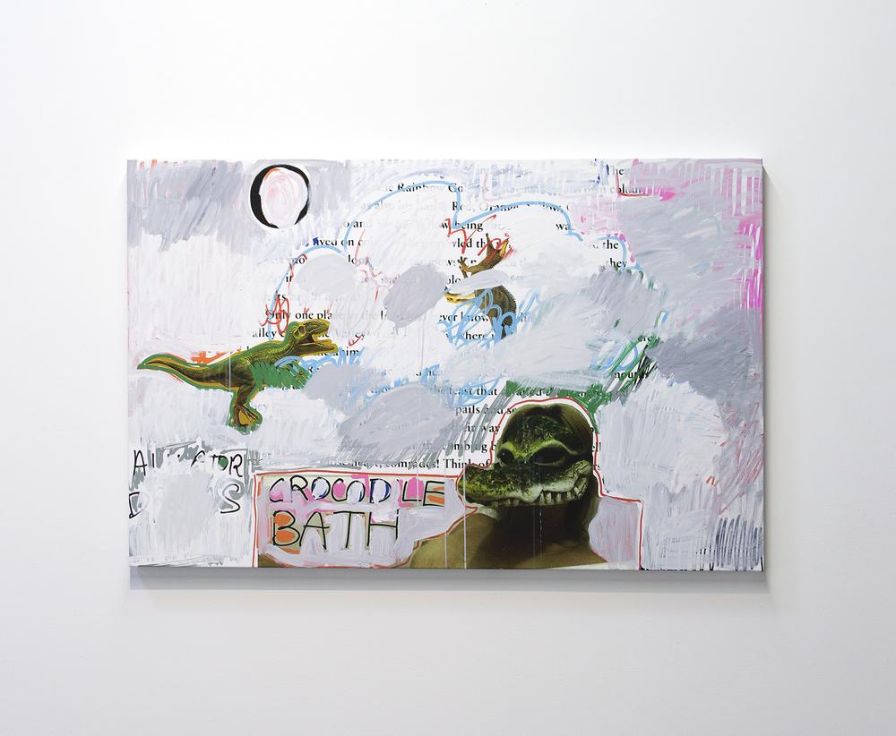 James Franco,Rainbow Goblin A, 2015, Acrylic on printed canvas, 52 x 69.5 inches