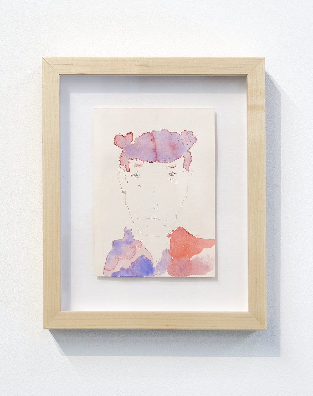 Henry Hopper,   Untitled  , 2015, watercolor and pen on paper, 7 x 5 inches