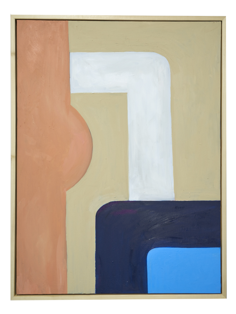 Wearing the inside out, 2015  oil on canvas  48 x 36 inches (121.92 x 91.44 cm)