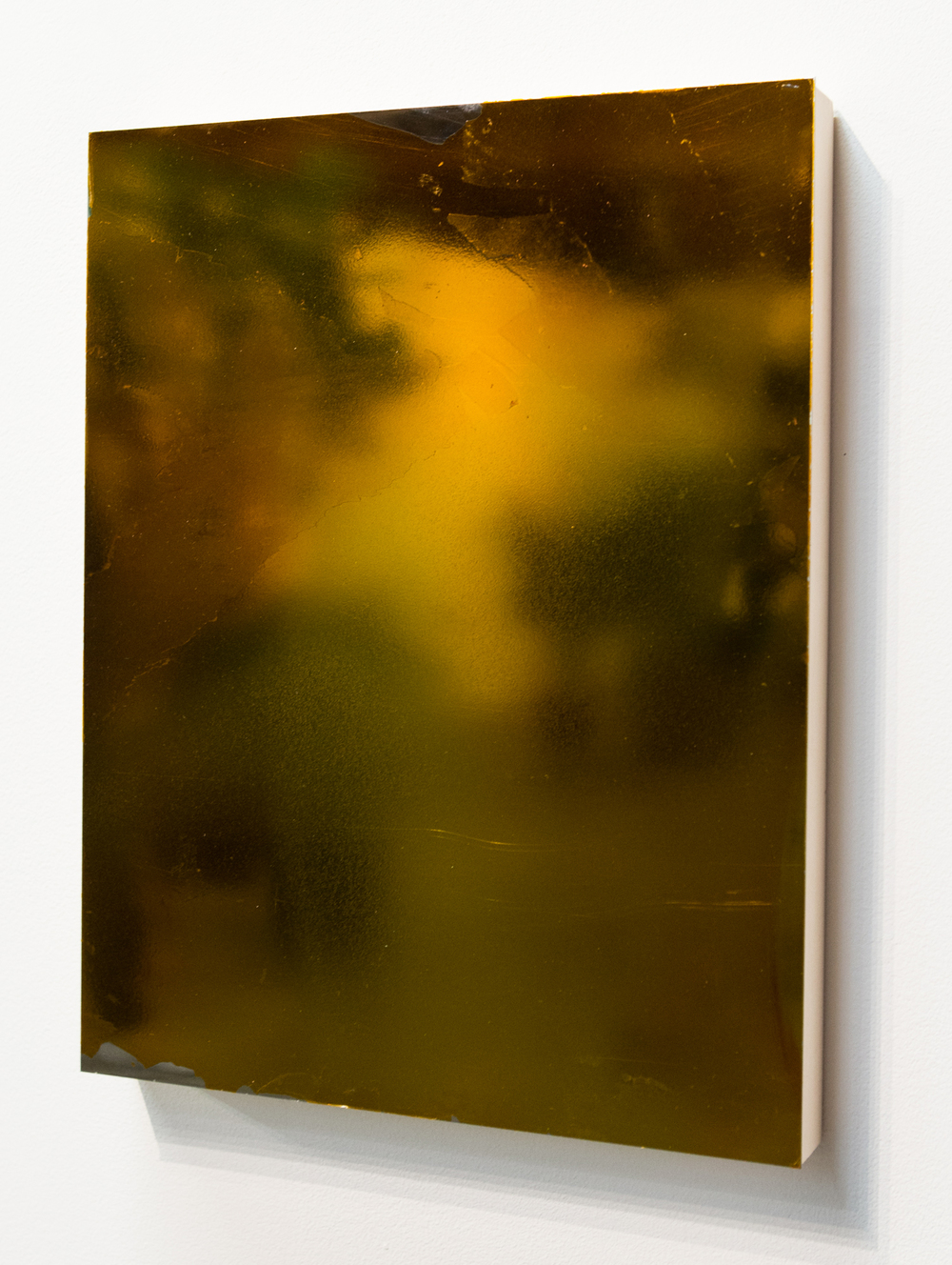 MLSL_18_Bunny, 2015  Gold tint on stainless steel  18 x 14 in (45.72 x 35.56 cm)