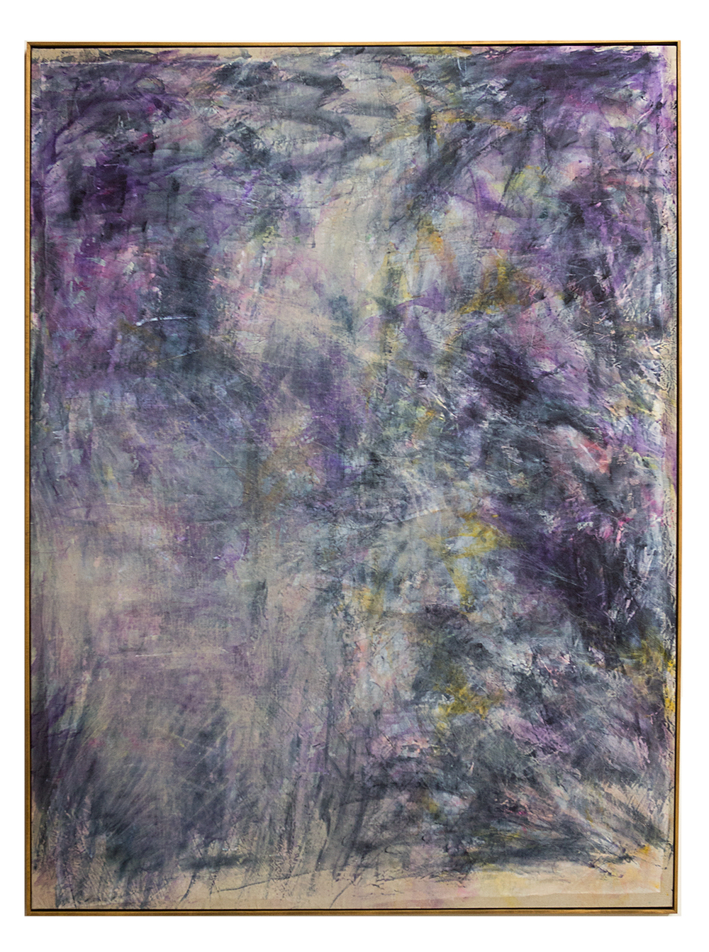 following a storm, a peaceful storm, 2015  acrylic, watercolor and saltwater on linen  96 x 72 inches (246 cm x 184 cm)