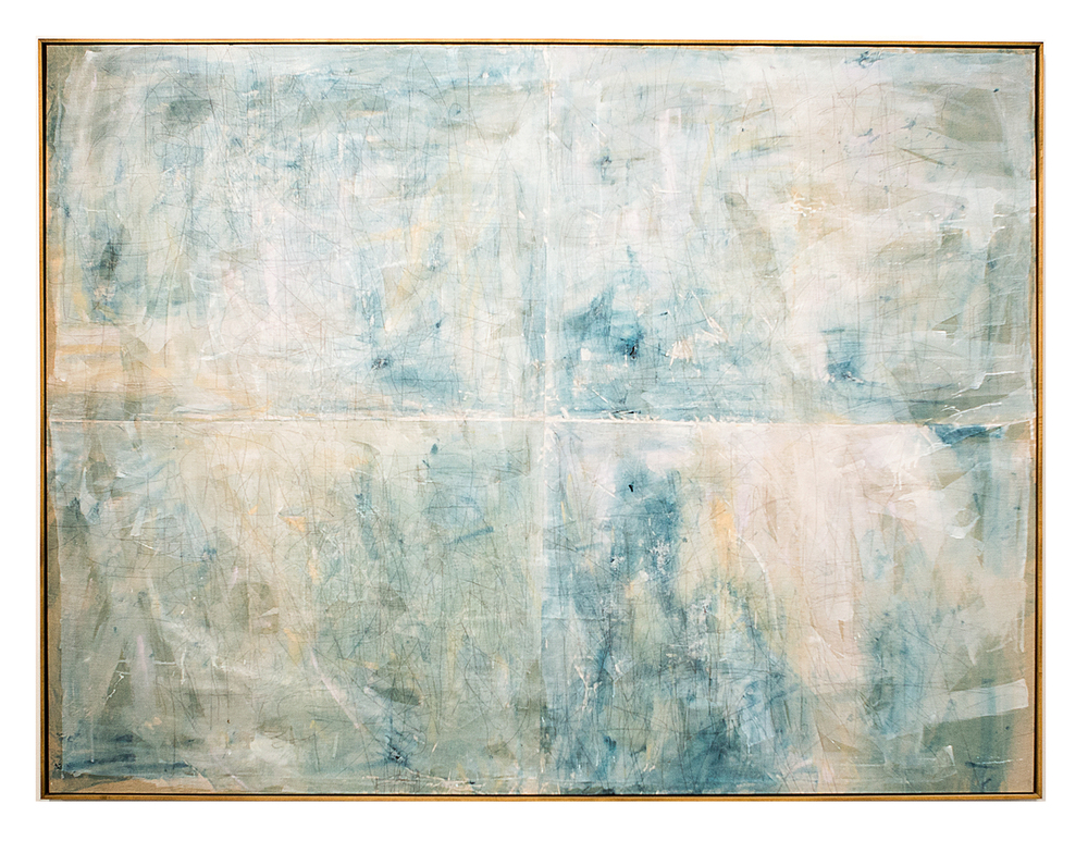 once we had two sundays in a row, 2015  acrylic, watercolor, graphite and saltwater on linen  72 x 96 inches (184 cm x 246 cm)