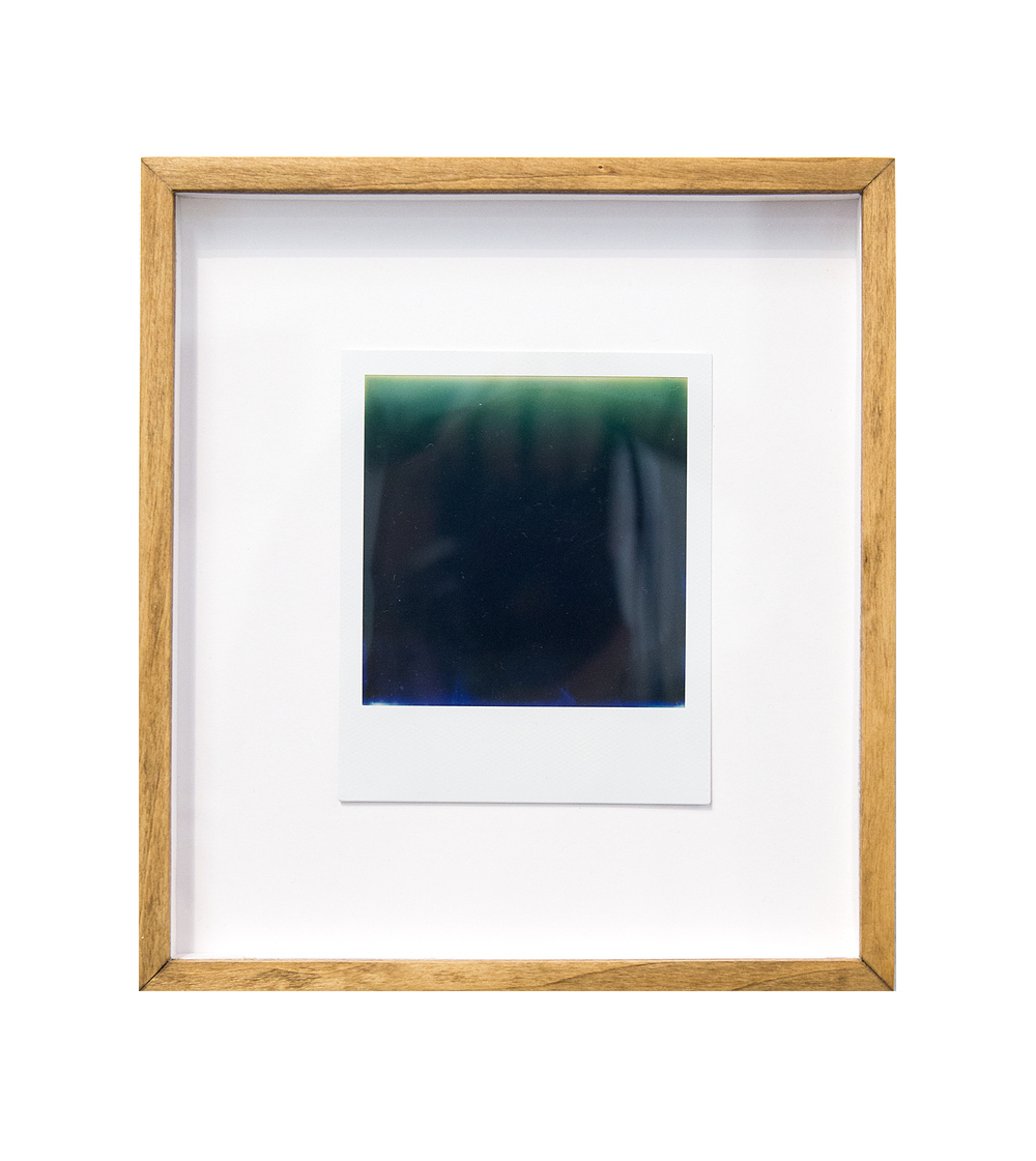 deep sea spectrum, 2015  black and white integral instant film for Polaroid  4.2 x 3.5 in (10.67 x 8.89 cm); Image 3.1 x 3.1 in (7.87 x 7.87 cm)