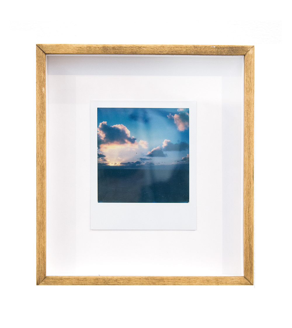 cloud breach, 2015  black and white integral instant film for Polaroid  4.2 x 3.5 in (10.67 x 8.89 cm); Image 3.1 x 3.1 in (7.87 x 7.87 cm)