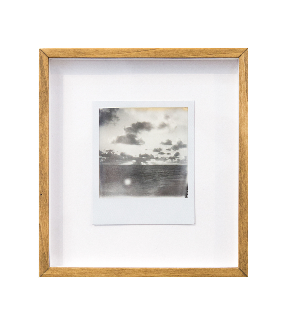 sunspots, 2015  black and white integral instant film for Polaroid  4.2 x 3.5 in (10.67 x 8.89 cm); Image 3.1 x 3.1 in (7.87 x 7.87 cm)