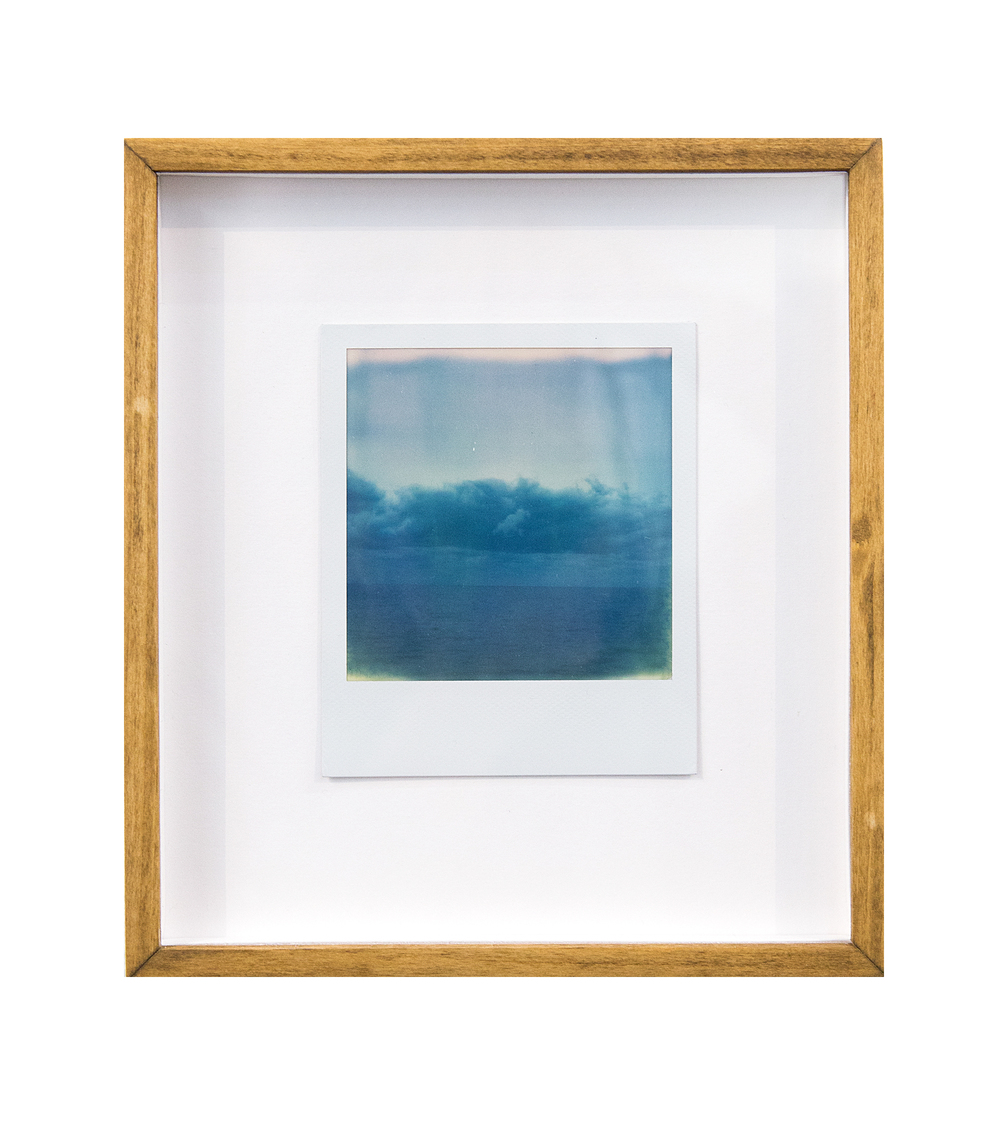 structural cloud balance, 2015  black and white integral instant film for Polaroid  4.2 x 3.5 in (10.67 x 8.89 cm); Image 3.1 x 3.1 in (7.87 x 7.87 cm)
