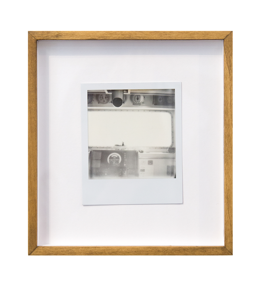 periscope, 2015  black and white integral instant film for Polaroid  4.2 x 3.5 in (10.67 x 8.89 cm); Image 3.1 x 3.1 in (7.87 x 7.87 cm)