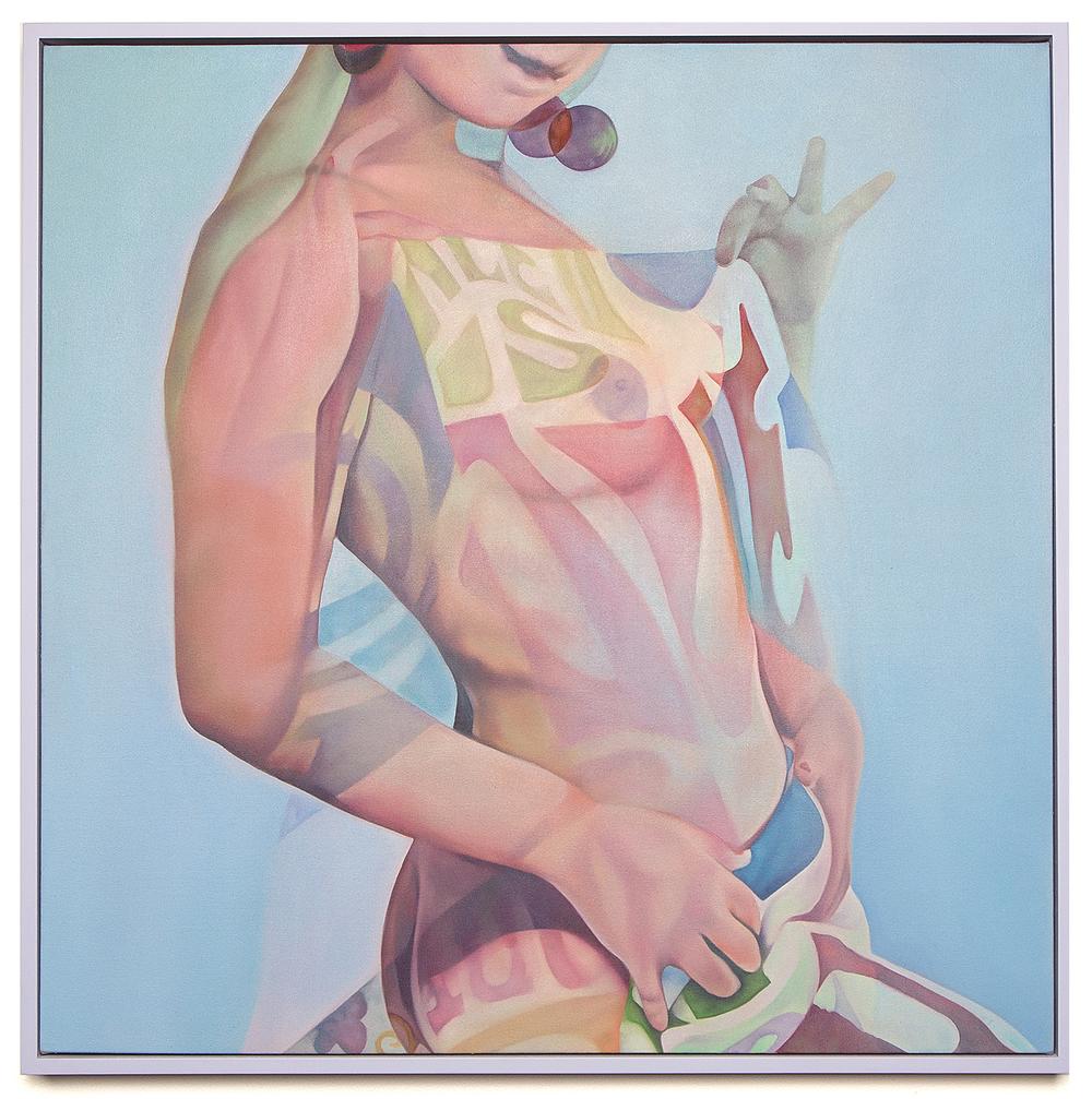 Shhhh, 2016 Oil on canvas 31 x 31 in (78.74 x 78.74 cm)