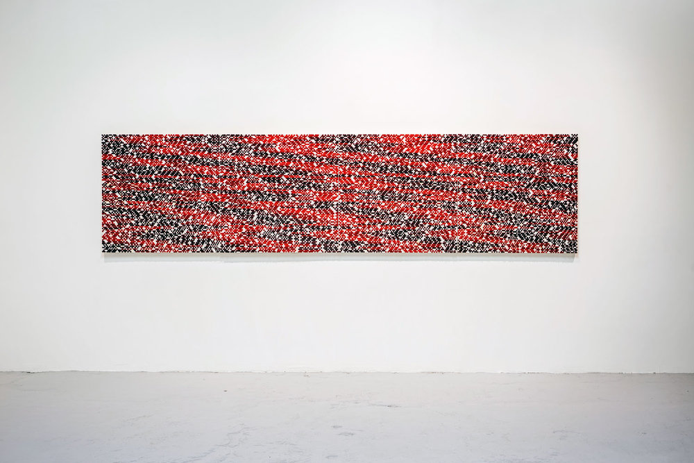 Non Existent # 25, 2014, oil on canvas, 39.5 x 157.5 in (100h x 400w cm)