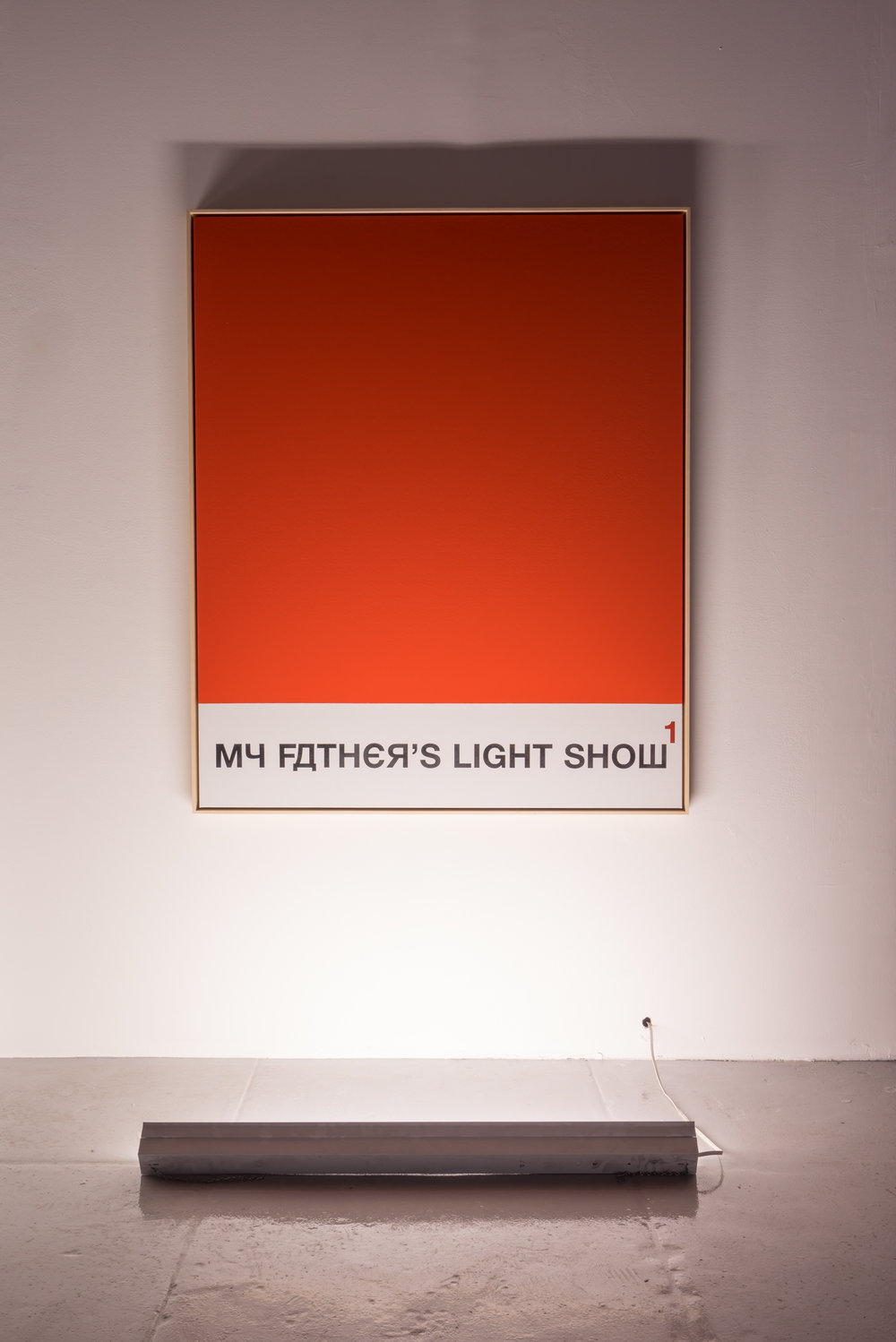MY FATHER'S LIGHT SHOW, 2016, Acrylic and spray paint on linen, 63.13 x 52.06 in (160.35h x 132.23w cm)