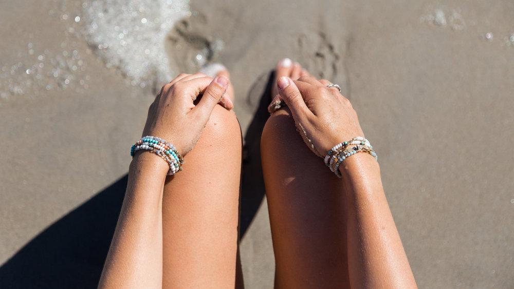 Summery ViscoStacks on a sandy beach