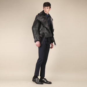 The Aviator' Oversized Grey Shearling Coat - Made To Order ...