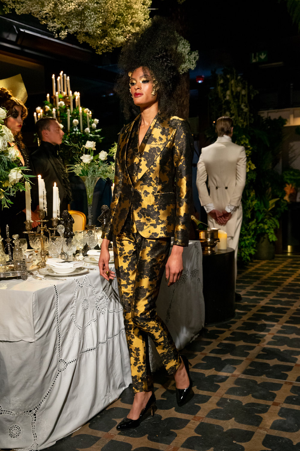 - FEATURED IN THIS LOOK£24202 PIECE SUITTHE AUDREY, GOLDEN LEAF SILK JAQUARDAVAILABLE THROUGH MADE-TO-ORDER£650WAISTCOAT THE AUDREY, GOLDEN LEAF SILK JAQUARDAVAILABLE THROUGH MADE-TO-ORDER__________________________BOOK A MADE-TO-ORDER APPOINTMENT