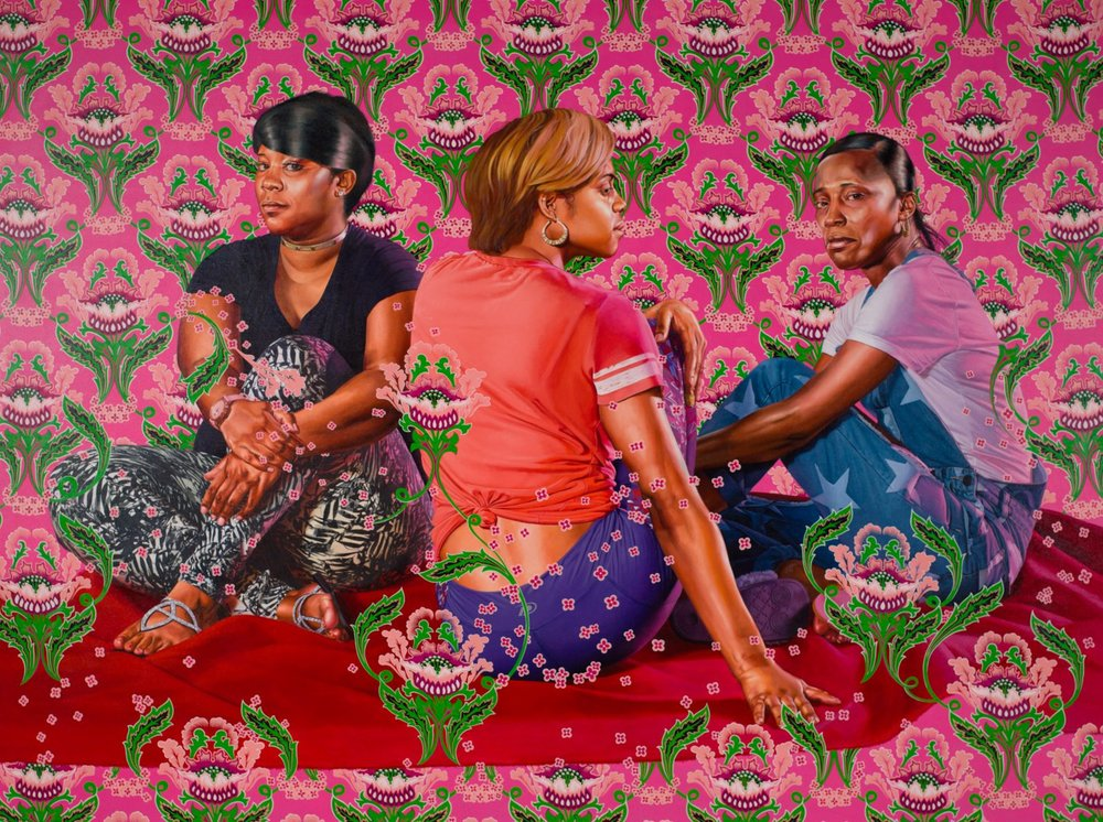 3 Girls in a Wood by Kehinde Wiley