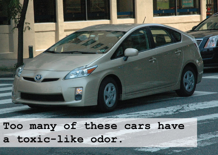 The Toyota Prius. Why do so many of them have that toxic-like odor?