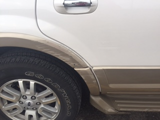 A reader's photo shows the damage a valet did.