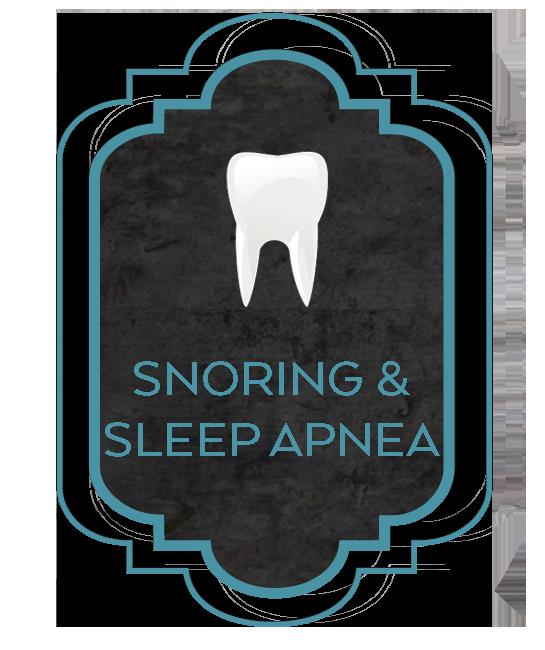 snoring and sleep apnea tooth graphic