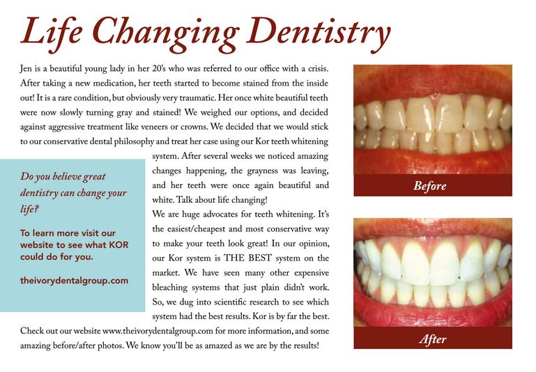 Life Changing Dentistry infographic