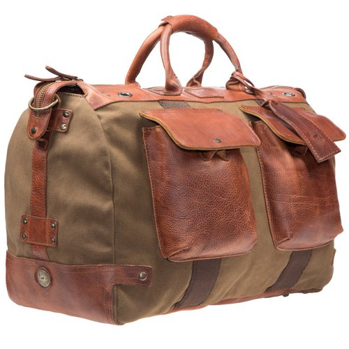 faba3048dfec Will Leather Goods Canvas  Leather Traveler Duffle.  31036 traveler-duffle tabac front lg 1.jpg.  31036 traveler-duffle tabac front lg 2.jpg
