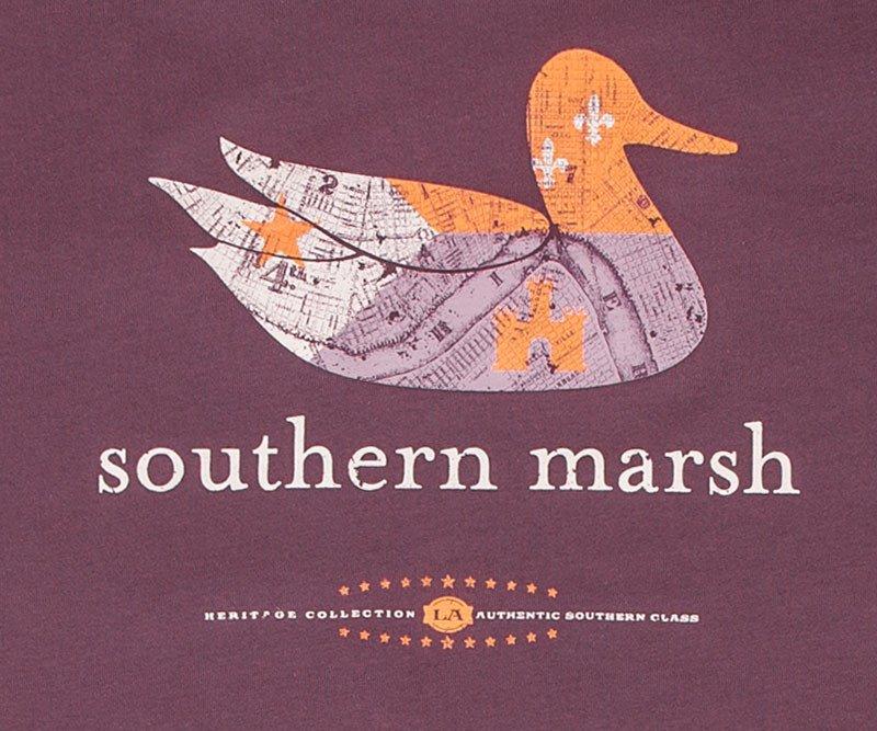 Southern Marsh Authentic Louisiana Heritage Tee Purple
