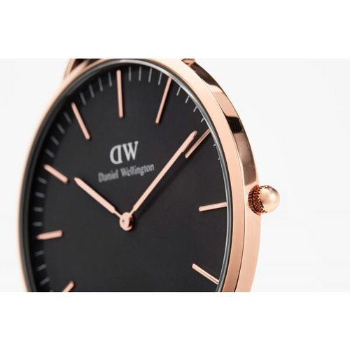 d1deb25f460a0 Daniel Wellington Classic Black Sheffield- Rose Gold 40mm ...