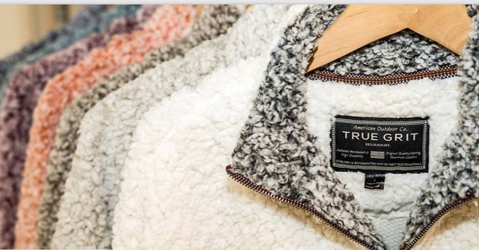 True Grit Frosty Tipped Pile Pullovers