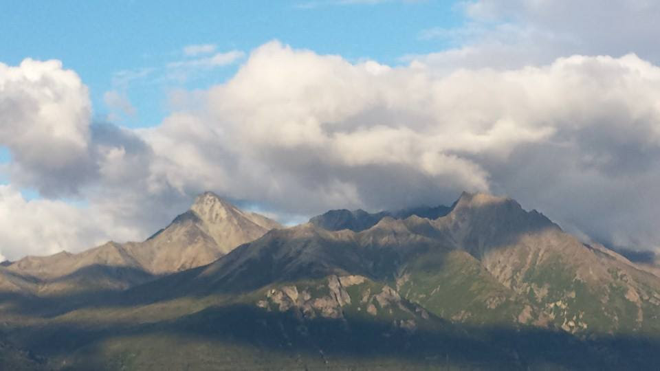 The Mountains around my cabin in Alaska
