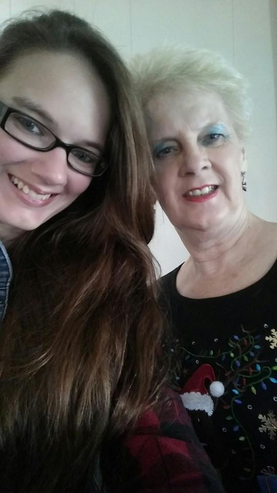 Snapped a quick Selfie of my Grandma and Me on Christmas Day!
