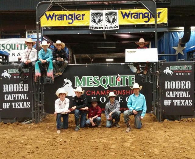 Jr. Bull Riders at the Real Texas Festival at Mesquite Rodeo.