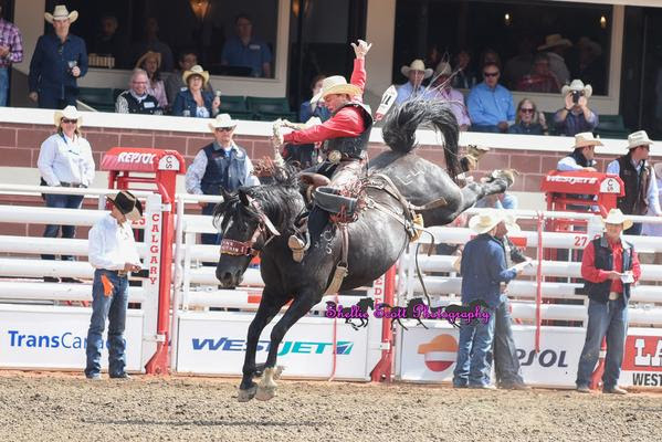 Rusty Wright Vs. Lynx Mountain for 89 points in Round 3 POOL A at the 2015 Calgary Stampede.